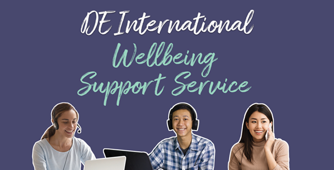 DE International Wellbeing Support Service decorative