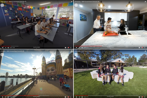 videos screenshots of the available virtual reality videos on our channels